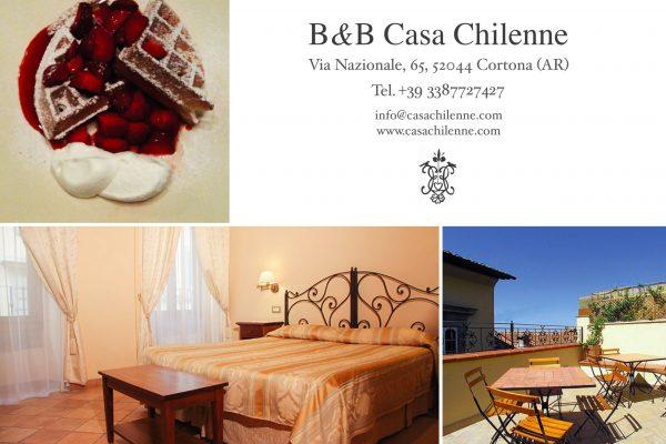 www.casachilenne.com  Via Nazionale 65, 52044 Cortona (AR), Tel 3387727427, info@casachilenne.com