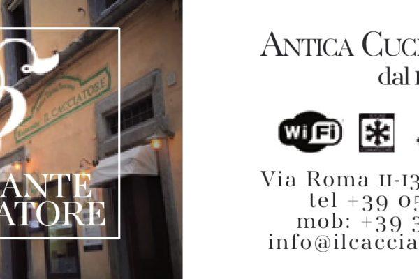 Via Roma 11-13, 52044 Cortona (AR),Tel 0575613780 / 3393717240, info@ilcacciatorecortona.it
