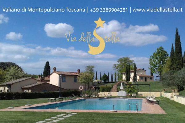 www.viadellastella.it  Valiano di Montepulciano Toscana, Tel 3389904281