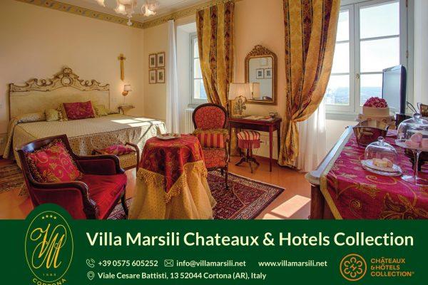 www.villamarsili.net  Viale Cesare Battisti 12, 52044 Cortona (AR),Tel 0575605252, info@villamarsili.net