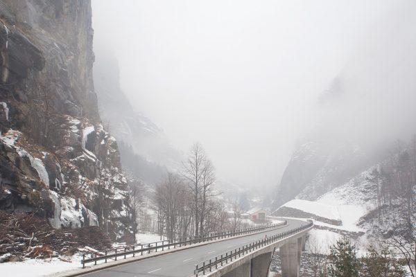 Trada di accesso a Gondo (Svizzera)