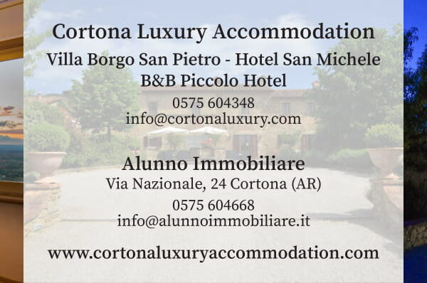 www.cortonaluxuryaccommodation.com Via Guelfa 15, 52044 Cortona (AR), Tel 0575 604348, info@hotelsanmichele.net